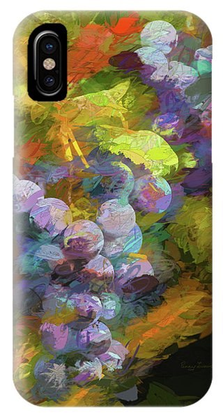 IPhone Case featuring the photograph Grapes In Abstract by Penny Lisowski