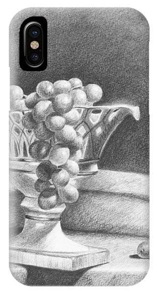 IPhone Case featuring the drawing Grapes by Joe Winkler
