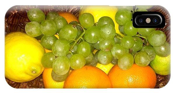 Grapes, Lemons, Mandarins And Lime  IPhone Case