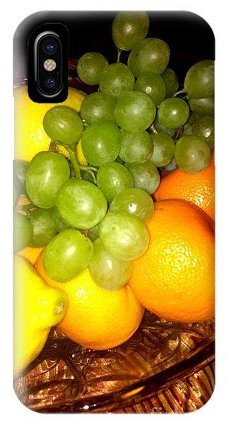 Grapes, Mandarins, Lemons IPhone Case