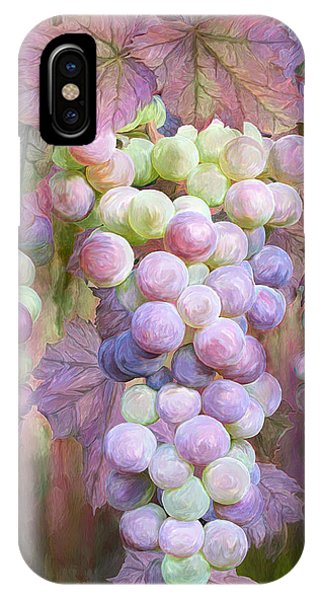 Pastel Colors iPhone Case - Grapes Of Many Colors by Carol Cavalaris