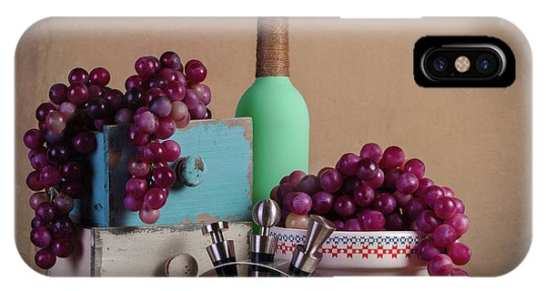 Fruit Bowl iPhone Case - Grapes With Wine Stoppers by Tom Mc Nemar