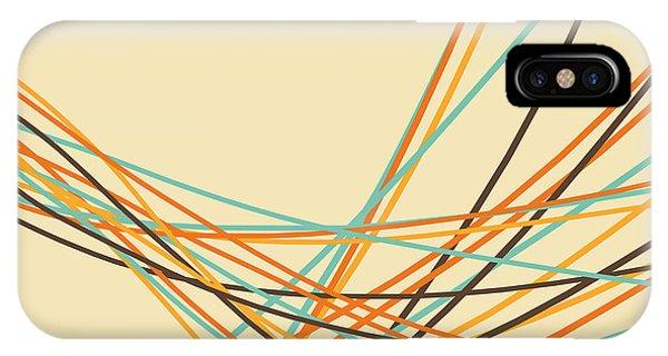Vintage iPhone Case - Graphic Line Pattern by Setsiri Silapasuwanchai