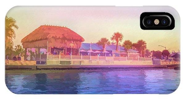 Tiki Bar iPhone Case - Graphic Rainbow Sams At Hudson Beach by Aimee L Maher ALM GALLERY