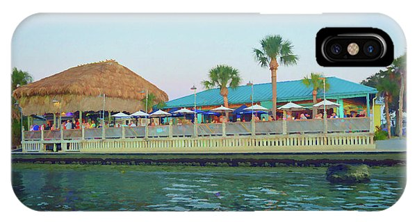 Tiki Bar iPhone Case - Graphic Sams On The Gulf by Aimee L Maher ALM GALLERY