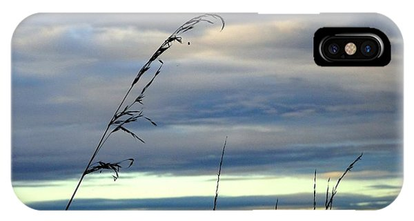 Grass Against Abstract Sky IPhone Case