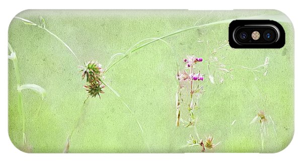 Grasses And Blooms IPhone Case