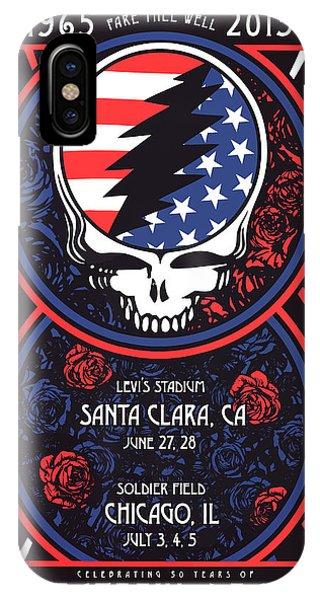 Fare iPhone Case - Grateful Dead Santa Clara Ca by The Saint