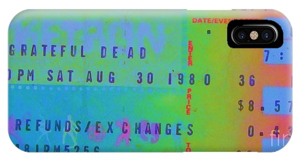 Grateful Dead - Ticket Stub IPhone Case