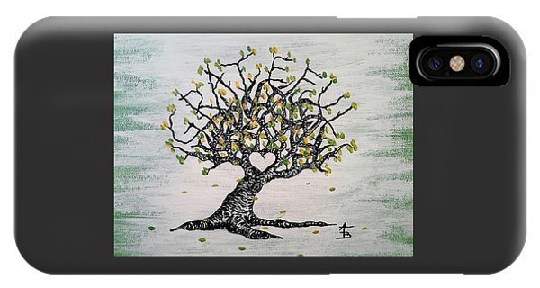 IPhone Case featuring the drawing Grateful Love Tree by Aaron Bombalicki