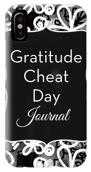 Poetry iPhone Case - Gratitude Cheat Day Journal- Art By Linda Woods by Linda Woods