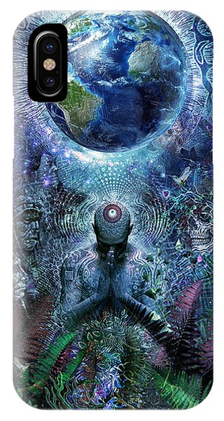 Eyes iPhone Case - Gratitude For The Earth And Sky by Cameron Gray
