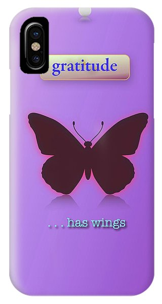 iPhone Case - Gratitude Has Wings by Jack Eadon