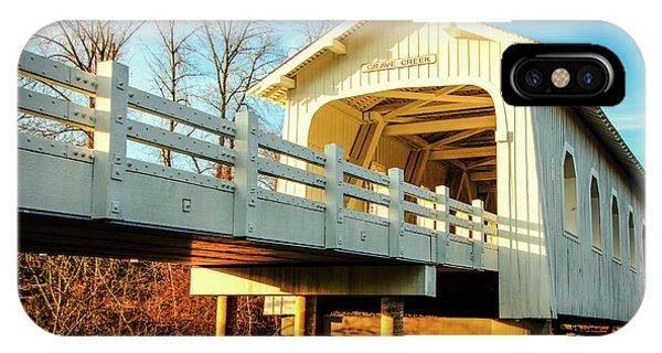 Grave Creek Covered Bridge IPhone Case