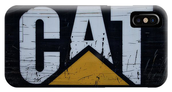 Gravel Pit Cat Signage Hydraulic Excavator IPhone Case