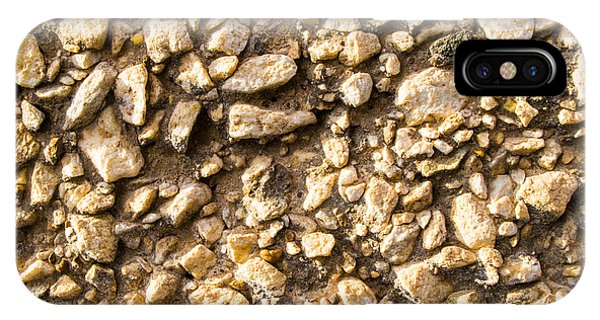 Gravel Stones On A Wall IPhone Case