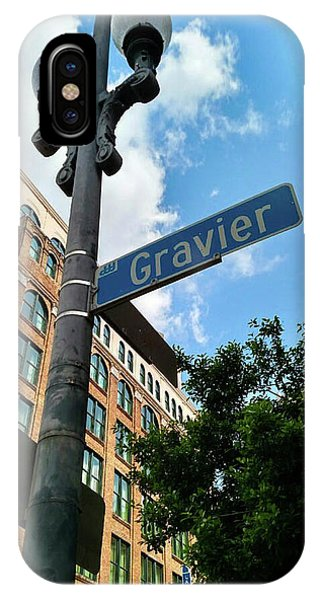 Street Sign iPhone Case - Gravier Street  by Britten Adams