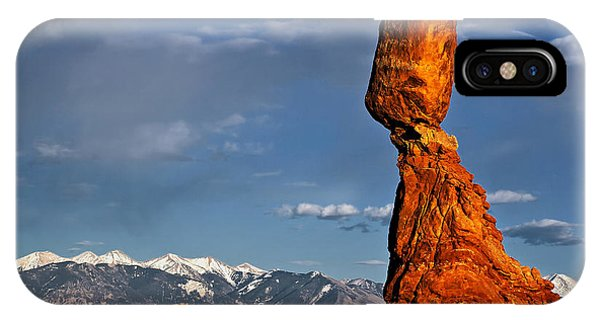 Gravity Defying Balanced Rock, Arches National Park, Utah IPhone Case