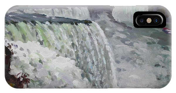 Cold iPhone Case - Gray And Cold At American Falls by Ylli Haruni