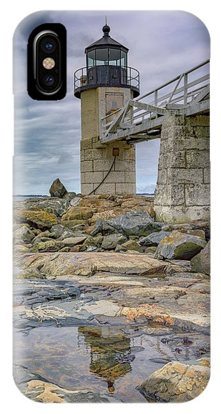 Navigation iPhone Case - Gray Day At Marshall Point by Rick Berk
