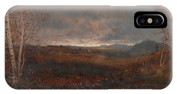 Jervis iPhone Case - Gray Day In Hill Country by Jervis McEntee