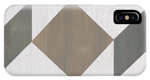 Abstract Modern iPhone Case - Gray Quilt by Debbie DeWitt