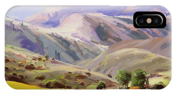 Lavender iPhone Case - Grazing In The Salmon River Mountains by Steve Henderson