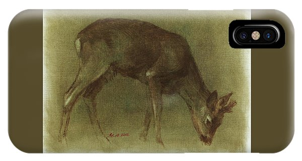 Grazing Roe Deer Oil Painting IPhone Case