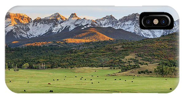 IPhone Case featuring the photograph Grazing Under Sneffels by David Chandler
