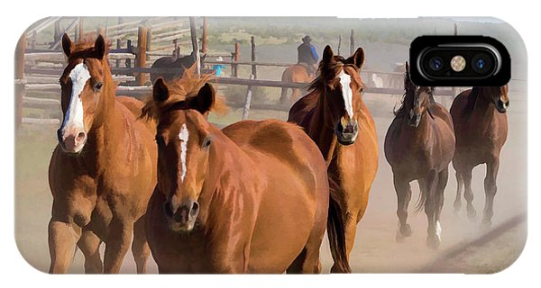 Great American Horse Drive - Coming Into The Corrals IPhone Case