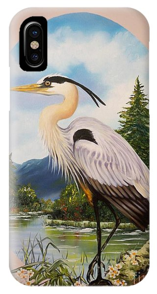 Flying Lamb Productions                 Great Blue Heron IPhone Case