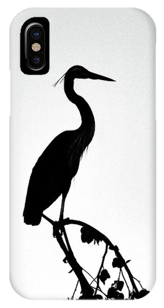 Great Blue Heron Silhouette IPhone Case