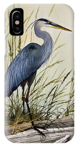 James iPhone Case - Great Blue Heron Splendor by James Williamson