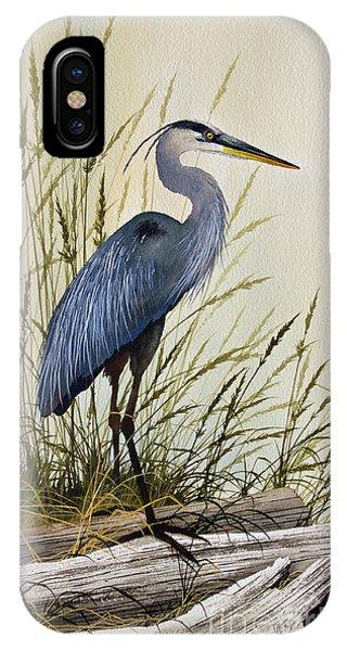 James iPhone Case - Great Blue Heron Splendor by James Williamson