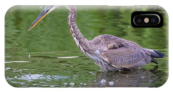 IPhone Case featuring the photograph Great Blue Heron - The One That Got Away by Ricky L Jones