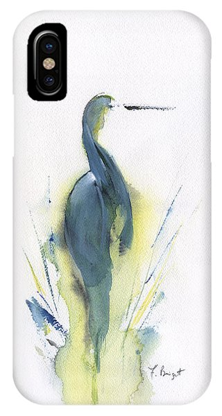 Blue Heron Turning IPhone Case
