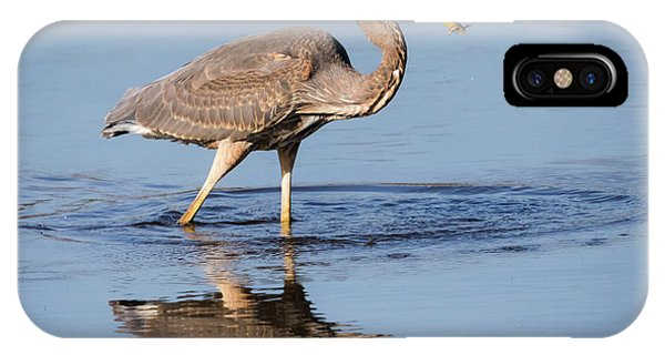 IPhone Case featuring the photograph Great Blue Heron With A Small Meal by Ricky L Jones