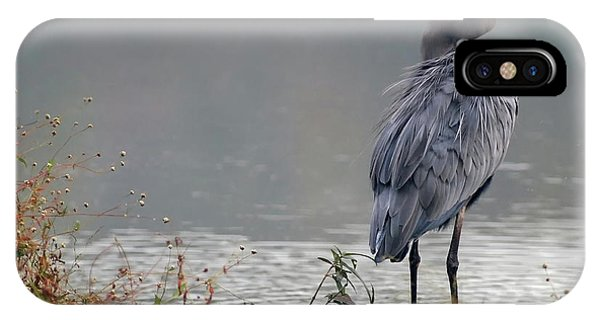 Great Blue Heron Landscape IPhone Case
