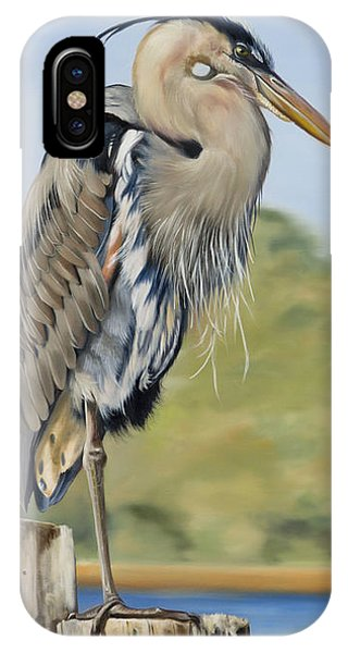 Great Blue Heron Standing IPhone Case