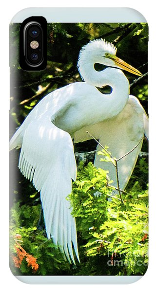 Great Egret Stretching IPhone Case