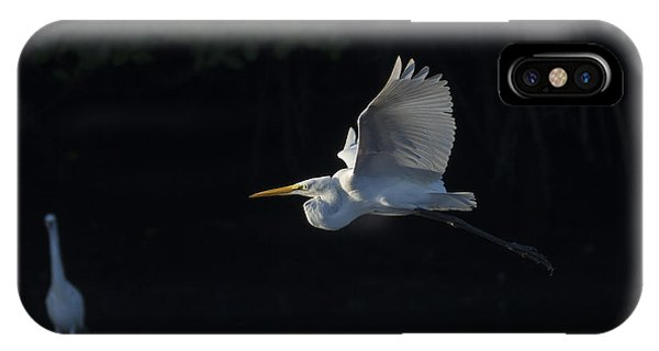Great Egret In Morning Flight IPhone Case