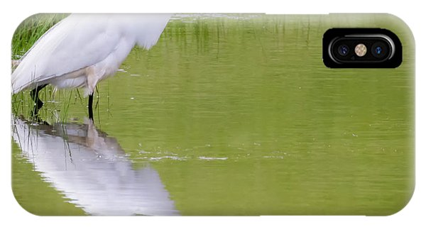 IPhone Case featuring the photograph Great Egret Ready To Pounce by Ricky L Jones