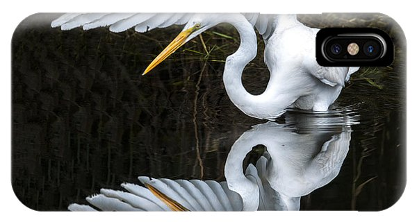 Great Egret Reflection IPhone Case