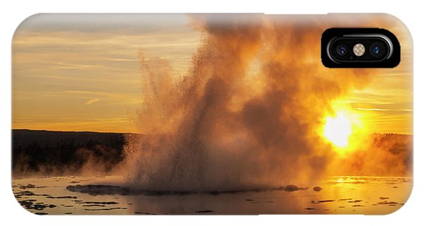 Sun Set iPhone Case - Great Fountain Geyser Sunset - Yellowstone National Park by Brian Harig