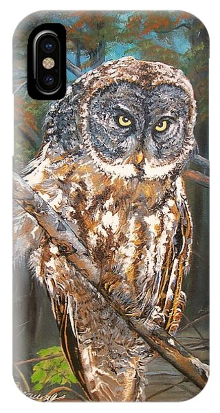 Great Grey Owl 2 IPhone Case