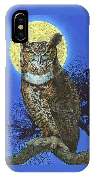 Great Horned Owl 2 IPhone Case