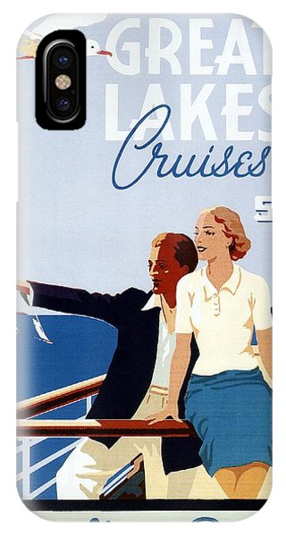 Advertising iPhone Case - Great Lakes Cruises - Canadian Pacific - Retro Travel Poster - Vintage Poster by Studio Grafiikka