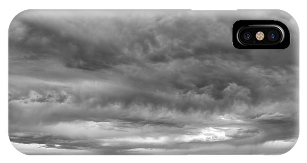 Great Salt Lake Clouds At Sunset - Black And White IPhone Case