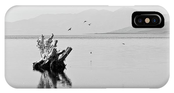 Salt Water iPhone Case - Great Salt Lake by Delphimages Photo Creations