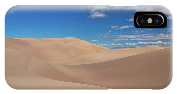 Great Sand Dunes Under A Blue Sky IPhone Case